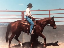 Gin and I riding early days at CSU